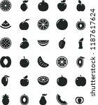 solid black flat icon set apple ... | Shutterstock .eps vector #1187617624