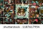beautiful small town  | Shutterstock . vector #1187617954