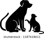 dog friend cat | Shutterstock . vector #1187618611