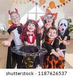 group of funny  children in...   Shutterstock . vector #1187626537