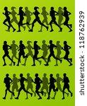 marathon runners detailed... | Shutterstock .eps vector #118762939