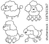 vector set of poodles | Shutterstock .eps vector #1187631367