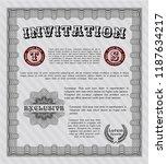 grey invitation template.... | Shutterstock .eps vector #1187634217