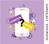frequently asked questions. faq ... | Shutterstock .eps vector #1187636641