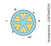 lemon icon design vector   Shutterstock .eps vector #1187640214