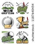 golf sport championship vintage ... | Shutterstock .eps vector #1187640454