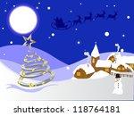 winter scene   christmas card   Shutterstock .eps vector #118764181