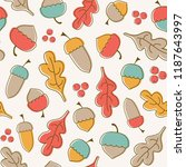 seamless vector pattern with... | Shutterstock .eps vector #1187643997