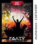 party dance poster design | Shutterstock .eps vector #118764589