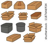 vector set of box | Shutterstock .eps vector #1187646934
