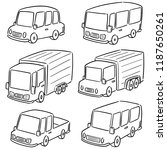 vector set of cars | Shutterstock .eps vector #1187650261