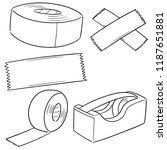 vector set of adhesive tape | Shutterstock .eps vector #1187651881
