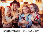 group of female friends taking... | Shutterstock . vector #1187652124