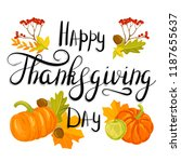 happy thanksgiving day | Shutterstock .eps vector #1187655637