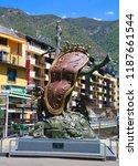 andorra  06 16 2012  clock of... | Shutterstock . vector #1187661544