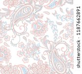 paisley vector seamless pattern.... | Shutterstock .eps vector #1187662891