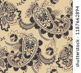 seamless paisley pattern in... | Shutterstock .eps vector #1187662894