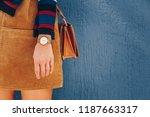 Close Up  Young Fashion Blogger ...