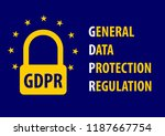 gdpr  general data protection... | Shutterstock .eps vector #1187667754