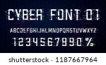 digital vector font design.... | Shutterstock .eps vector #1187667964