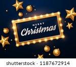 christmas background. retro... | Shutterstock .eps vector #1187672914