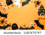 halloween candies with paper... | Shutterstock . vector #1187675797