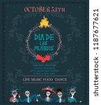 day of the dead festival... | Shutterstock .eps vector #1187677621