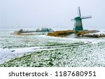 winter snow mindwill farm... | Shutterstock . vector #1187680951