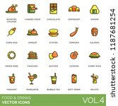 food and drinks icon set.... | Shutterstock .eps vector #1187681254