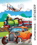 the hot rod   the train   and... | Shutterstock . vector #118768309