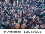 aerial view of hong kong... | Shutterstock . vector #1187684371