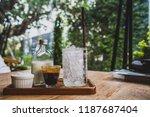 separate ingredient of iced... | Shutterstock . vector #1187687404