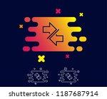 synchronize arrows line icon.... | Shutterstock .eps vector #1187687914
