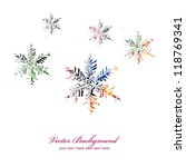 colorful vector snowflakes... | Shutterstock .eps vector #118769341
