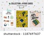 super cute vector set of hygge... | Shutterstock .eps vector #1187697637