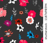 pink and grey floral... | Shutterstock .eps vector #1187698594