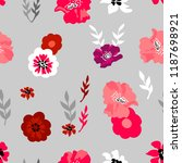 pink and red floral composition.... | Shutterstock .eps vector #1187698921