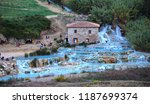 natural spa with waterfalls and ...   Shutterstock . vector #1187699374