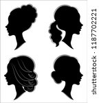 collection. silhouette of a... | Shutterstock .eps vector #1187702221