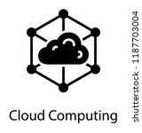 cloud network connected with... | Shutterstock .eps vector #1187703004