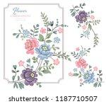 vector rose set. colorful... | Shutterstock .eps vector #1187710507