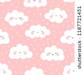 cute cartoon face cloud... | Shutterstock .eps vector #1187721451