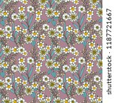 seamless pattern with flowers ... | Shutterstock .eps vector #1187721667