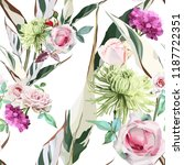 seamless floral pattern with... | Shutterstock .eps vector #1187722351