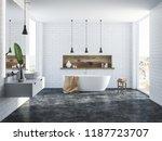 white brick bathroom interior...   Shutterstock . vector #1187723707