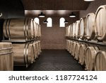 wine cellar interior with brick ... | Shutterstock . vector #1187724124
