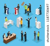 isometric people election set... | Shutterstock .eps vector #1187730697