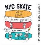 skate board vector... | Shutterstock .eps vector #1187731084