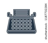 typewriter icon vector isolated ... | Shutterstock .eps vector #1187732284