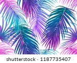 Tropic Leaves Seamless Pattern...